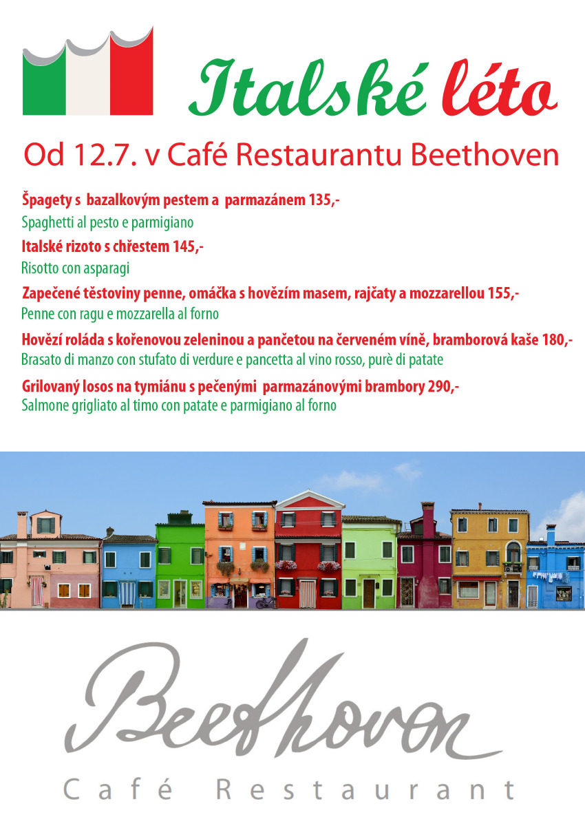 Italské léto v Café Restaurantu Beethoven